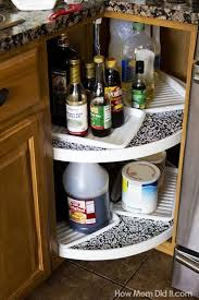 should i put shelf liner in new cabinets ideas for the home lazy susan shelf liner kitchen