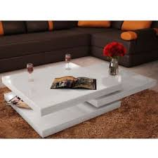 White Side Tables For Living Room Vidaxl White High Gloss 3 Layers Shape Adjustable Coffee Side