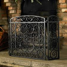 decorative fireplace screens iron modern decorative fireplace