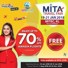 airasia travel fair tickets 70 off mita travel fair promotion 2018