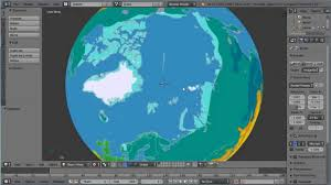 Actual World Map by Blender Uv Mapping Making A Globe World Earth And Packing The