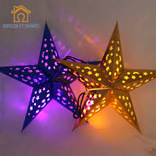 popular paper star string lights buy cheap paper star string