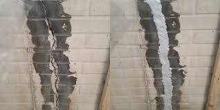 fixing basement wall cracks home design inspirations