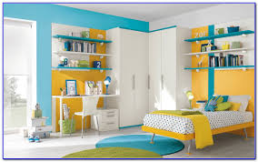 blue and yellow color scheme for bedroom painting home design