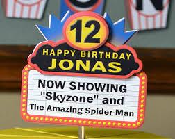 Movie Themed Cake Decorations Movie Night Birthday Party Decorations Movie Theme Door Sign