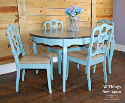 Shabby Chic Dining Table Set Dining Table And 4 Chairs Dining Set Painted Vintage Duck Egg