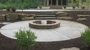 Concrete Firepits B T Klein S Landscaping Hardscapes Firepits