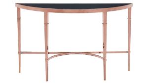 modern wood console table modern pascale glass console table rose gold u0026 black zuri furniture