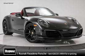 black porsche convertible new 2018 porsche 911 in pasadena ca stock 38378 vin