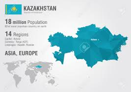 Regions World Map by Kazakhstan World Map With A Pixel Diamond Texture World Geography