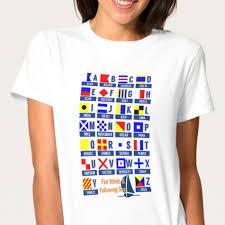 Nautical Code Flags Nautical Sign Code Flags Alphabet Women U0027s Tee U2013 Pr U2013 Port Richman