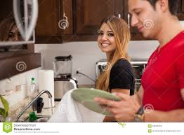 background pictures for newly wed halloween coiple cute couple doing some chores stock photo image 56549439