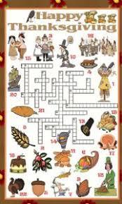 intermediate esl worksheets thanksgiving crossword