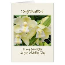 Wedding Day Card To My Daughter On Her Wedding Day Card Zazzle Com
