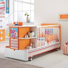 Convertible Baby Crib Sets Modern Orange White Convertible Baby Cot Samba By Pali ห องเด ก