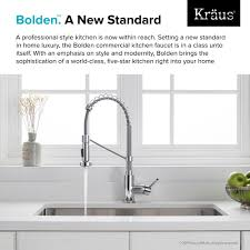 kitchen faucet kraususa com kraus bolden 8482 single handle 18 inch commercial kitchen faucet with dual function