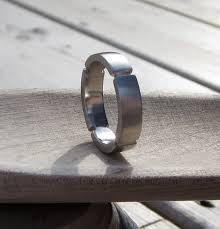 weddings 10k mens wedding band 10k white gold handmade industrial