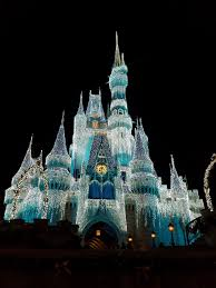 the many colors of cinderella u0027s castle holiday lights