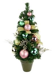 gold pink u0026 mint green pre decorated table top tree 62cm