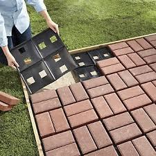 Diy Backyard Patio Ideas Argee Patio Pal Brick Laying Guides For Modular Bricks 10 Pack