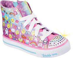 skechers light up shoes on off switch girls skechers twinkle toes shuffles chat time high top sneaker