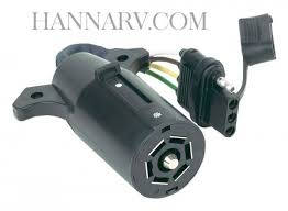 hopkins 47365 7 way rv blade to 4 wire flat flexible wiring