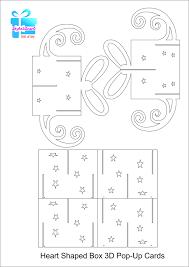 printable christmas pop up card templates printable pop up card template