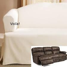 T Cushion Sofa Slip Cover Reclining Sofa Slipcover Low Back Ribbed Texture Chocolate Adapted