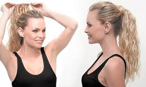 hair u wear hairuwear curl ponytail groupon goods