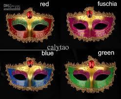 Mardi Gras Halloween Costume Masquerade Party Mask Face Halloween Costume Gold Lace Mardi