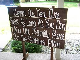 country wedding decorations wedding signs free standing come as you are rustic wooden sign