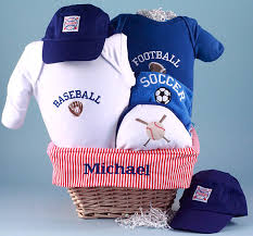 sports gift baskets personalized baby gift basket sport by silly phillie