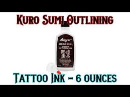 kuro sumi tattoo black outlining ink guns and needles