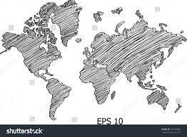World Map Globe by World Map Globe Vector Line Illustrator Stock Vector 107476352