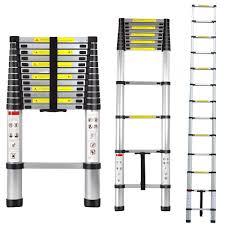 12 5 u0027 aluminum telescopic telescoping loft ladder review youtube