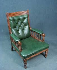 Antique Upholstered Armchairs A Fabulous Antique Button Back Library Armchair Superb Green