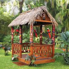 the tropical tiki hut hammacher schlemmer