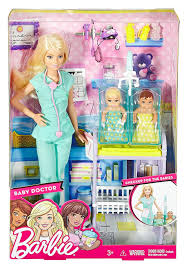 amazon com barbie baby doctor playset toys u0026 games