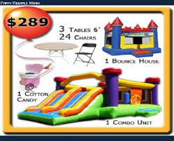 party rentals miami party rental miami bounce house rental tent rentals