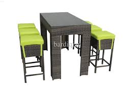 bar stools glass top rattan base round outdoor coffee table with
