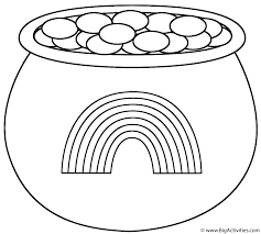 coloring pages rainbow pot gold coloring pages