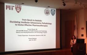 Lab News   Molecular Neuro Otology and Biotechnology Laboratory Molecular Neuro Otology and Biotechnology Laboratory Sonam Diwali defends her PhD dissertation at MIT  Harvard MIT Division of HST  SHBT program  Sonam     s thesis was entitled    From Bench to Bedside  Elucidating
