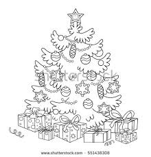christmas hand drawn doodle elements stock vector 343311704