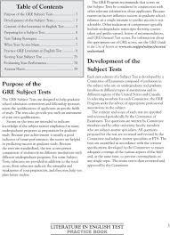 Sample Gre Score Report Literature In English Test Practice Book Pdf