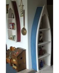 Canoe Shaped Bookshelf Holiday Sale 6 Foot Row Boat Bookshelf Bookcase Shelf Nautical