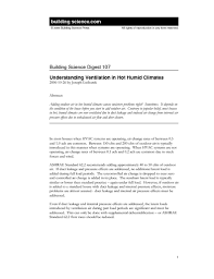 Real Estate Developer Resume Sample by Bsd 107 Understanding Ventilation In Humid Climates