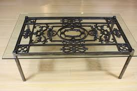 cast iron glass table wrought iron coffee table furniture cole papers design