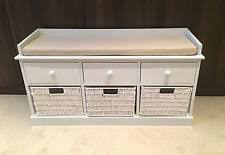 White Wood Storage Bench Wooden Storage Bench Ebay