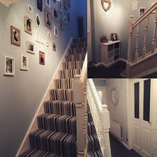 Stairs Hallway Ideas by My New Duck Egg Blue Hallway Striped Carpet Ideas For The