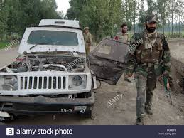 indian police jeep jun 24 2007 srinagar kashmir india indian army soldiers
